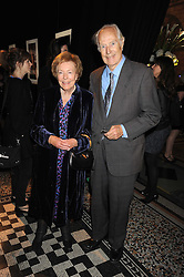 SIR GEORGE & LADY MARTIN at British Style Observed - part of National Magazine's 30 Days of Fashion & Beauty festival featuring photographs by Mary McCartney with proceeds from the evening going to Macmillan Cancer Care held at the Natural History Museum, Cromwell Road, London on 16th September 2008.