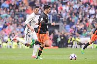 Real Madrid's Carlos Henrique Casemiro and Valencia CF's Carlos Soler during La Liga match between Real Madrid and Valencia CF at Santiago Bernabeu Stadium in Madrid, April 29, 2017. Spain.<br /> (ALTERPHOTOS/BorjaB.Hojas)