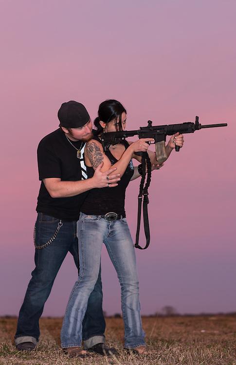 Shooting lesson.