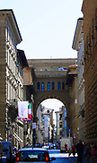 Architectural street detail from Florence, Italy. Arches and stonework.