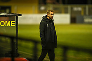 Harrogate Town Manager Simon Weaver during the EFL Sky Bet League 2 match between Harrogate Town and Exeter City at the EnviroVent Stadium, Harrogate, United Kingdom on 19 January 2021.
