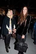 SAFFRON LE BON; AMBER LEBON, Richard Hambleton private view.- New York- Godfather of Street art presented by Vladimir Restoin Roitfeld and Andy Valmorbida in collaboration with Giorgio armani. The Old Dairy. London. 18 November 2010. -DO NOT ARCHIVE-© Copyright Photograph by Dafydd Jones. 248 Clapham Rd. London SW9 0PZ. Tel 0207 820 0771. www.dafjones.com.