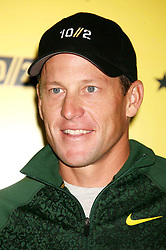 Oct. 17, 2012 - New York, New York, U.S. - FILE PHOTO - LANCE ARMSTRONG has had his contract with sportswear giant Nike terminated. The decision comes a week after the United States Anti-Doping Agency released a report containing accusations of widespread doping by Armstrong and his teams. PICTURED - Jan. 5, 2000 - Lance Armstrong at a Nike Q&A to talk about his training for the NYC marathon at Macy's Herald Square. (Credit Image: © Henry McGee/ZUMAPRESS.com)