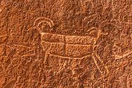 Petroglyph along the Escalante River, near Neon Canyon, Grand Staircase-Escalante National Monument; Utah