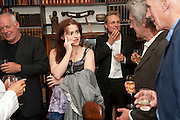 DAVID GILMOUR; HELENA BONHAM CARTER; TOM ASTOR; MICHAEL MOLNAC; JAMES FOX, Freud Museum dinner, Maresfield Gardens. 16 June 2011. <br /> <br />  , -DO NOT ARCHIVE-© Copyright Photograph by Dafydd Jones. 248 Clapham Rd. London SW9 0PZ. Tel 0207 820 0771. www.dafjones.com.