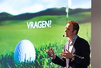AMSTERDAM - Maarten Voermans (NGF) aan het woord tijdens PGA , (Professional Golf Association) dagen bij Amstelborgh. FOTO KOEN SUYK
