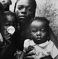 Family in Cite Soleil- Port au Prince, Haiti.  1986