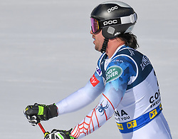 15.02.2021, Cortina, ITA, FIS Weltmeisterschaften Ski Alpin, Alpine Kombination, Herren, Super G, im Bild Jared Goldberg (USA) // Jared Goldberg of the USA reacts after the Super G competition for the men's alpine combined of FIS Alpine Ski World Championships 2021 in Cortina, Italy on 2021/02/15. EXPA Pictures © 2021, PhotoCredit: EXPA/ Erich Spiess