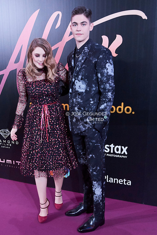 Josephine Langford, Hero Fiennes Tiffin attends 'After' Premiere at Capitol Cinema on March 26, 2019 in Madrid, Spain