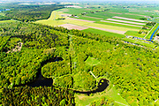 Nederland, Flevoland, Noordoostpolder, 07-05-2018; bos bij Luttelgeest, gezien naar Kuinderbos.<br /> Aangeplant bos. <br /> Planted forest in new polder, North East Polder.<br /> <br /> luchtfoto (toeslag op standard tarieven);<br /> aerial photo (additional fee required);<br /> copyright foto/photo Siebe Swart