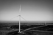 SHOT 11/26/18 4:39:42 PM - Aerial views of the Broadview and Grady Wind Facilities near Clovis, N.M. operated and owned by Pattern Energy. The facility consists of more than 140 wind turbines in N.M. and Texas that went operational in March 2017 and provide renewable energy to a number of places in California. Pattern Energy is a leading U.S. based independent renewable energy company headquartered in San Francisco. (Photo by Marc Piscotty / © 2018)