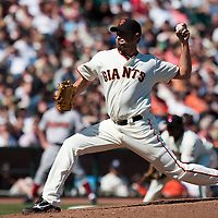 18 April 2009: San Francisco Giants' Jeremy Affeldt pitches against the Arizona Diamondbacks during the San Francisco Giants' 2-0 loss to the Arizona Diamondbacks at AT&T Park in San Francisco, CA.