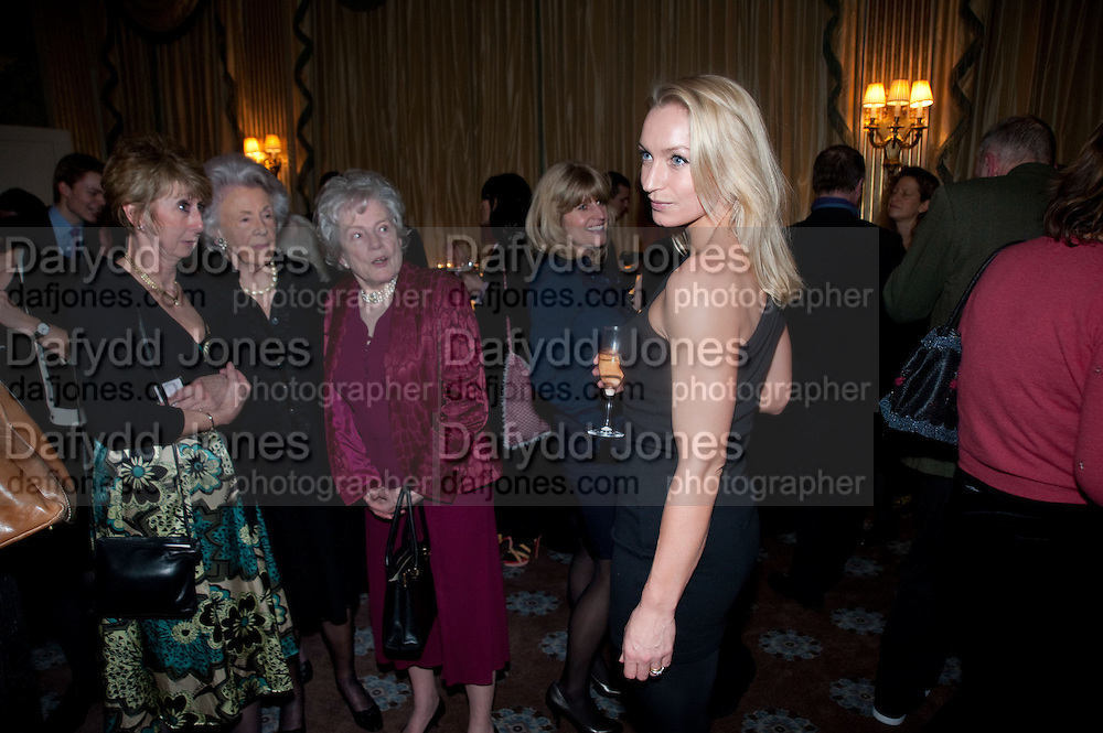 SUSAN GITTINGS; MRS. GEORGE BUDD; DR. CHRISTIAN CARRITT LOOKING AT LISA HILTON, , The Dowager Duchess od Devonshire and Catherine Ostler editor of the Tatler host a party to celebrate Penguin's reissue of Nancy Mitford's ' Wigs on the Green.'  The French Salon. Claridge's. London. 10 March 2010.