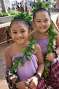 Hula Dancers at luau, Waikiki, Honolulu, Oahu, Hawaii (editorial use only, no model release