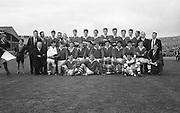 The Cork Minor team pose for the camera after winning the All Ireland Minor Gaelic Football Final Cork v. Laois in Croke Park on the 24th September 1967.