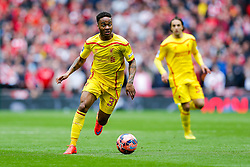 Raheem Sterling of Liverpool breaks forward - Photo mandatory by-line: Rogan Thomson/JMP - 07966 386802 - 19/04/2015 - SPORT - FOOTBALL - London, England - Wembley Stadium - Aston Villa v Liverpool - FA Cup Semi Final.