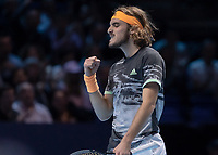 Tennis - 2019 Nitto ATP Finals at The O2 - Day Eight<br /> <br /> Singles Final : Stefanos Tsitsipas (Greece) Vs. Dominic Thiem (Austria)<br /> <br /> Stefanos Tsitsipas (Greece) grits his teeth as he celebrates holding his serve <br /> <br /> COLORSPORT/DANIEL BEARHAM