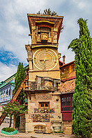 The Leaning Clock Tower  landmark of Tbilisi Georgia capital city eastern Europe