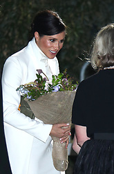 The Duchess of Sussex arrives at the Natural History Museum in London to attend a gala performance of The Wider Earth.