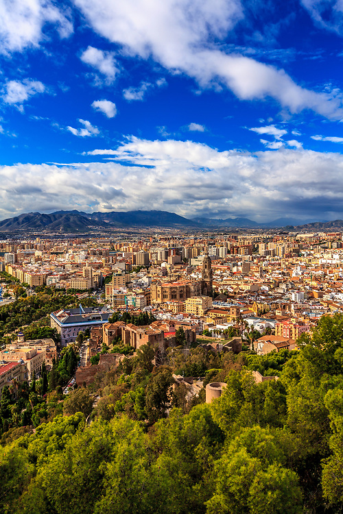 The Malaga city in Spain. Málaga's history spans about 2,800 years, making it one of the oldest cities in the world.