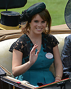 © Licensed to London News Pictures. 19/06/2012. Ascot, UK  Princess Eugenie of York. The Royal Procession enter the parade ring on Day one at Royal Ascot 19 June 2012. Royal Ascot has established itself as a national institution and the centrepiece of the British social calendar as well as being a stage for the best racehorses in the world.. Photo credit : Stephen Simpson/LNP