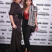 NLD/Amsterdam/20150119 - De Marie Claire Prix de la Mode awards, Claudia Straatmans en Winonah de Jong