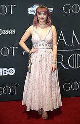 Maisie Williams attending the Game of Thrones Premiere, held at Waterfront Hall, Belfast.