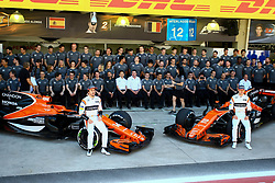 November 12, 2017 - Brazil - SAO PAULO, SP - 12.11.2017: GRANDE PR MIO DO BRASIL DE FORMULA 1 2017 - In the photo the pilots, Fernando Alonso and Stoffel Vandoorne of MCLAREN RACING, pose for the team's official photo. Grand Prix of Brazil of Formula 1 2017, this Sunday (12) in the autodrome Jose Carlos Pace in Interlagos. (Credit Image: © Fotoarena via ZUMA Press)