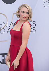 January 27, 2019 - Los Angeles, California, U.S - Emily Osment at the red carpet of the 25th Annual Screen Actors Guild Awards held at  the Shrine Auditorium in Los Angeles, California, Sunday January 27, 2019. JAVIER  ROJAS/PI (Credit Image: © Prensa Internacional via ZUMA Wire)