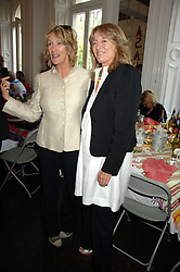 Left to right, ANNABEL ELLIOT and PRISCILLA HIGHAM at a lunch in aid of African Solutions To African Problems held at Il Bottaccio, 9 Grosvenor Place, London on 20th May 2008.<br />