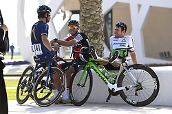 February 15, 2018 - Muscat, Oman - BLYTHE Adam of Aqua Blue Sport, VAN AVERMAET Greg  (BEL)  of BMC Racing Team, CAVENDISH Mark  (GBR)  of Team Dimension Data during stage 3 of the 9th edition of the 2018 Tour of Oman cycling race, a stage of 179.5 kms between German University of Technology and Wadi Dayqah Dam on February 15, 2018 in Muscat, Sultanate Of Oman, 15/02/2018 (Credit Image: © Panoramic via ZUMA Press)