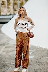 Street style, Paris Jackson arriving at Stella McCartney Spring Summer 2022 show, held at Espace Niemeyer, Paris, France, on October 4, 2021. Photo by Marie-Paola Bertrand-Hillion/ABACAPRESS.COM