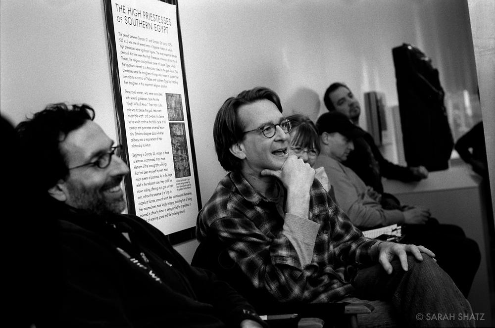 "Gavin Polone, David Koepp on the set of ""Ghost Town"" (Dir: David Koepp, 2008)"