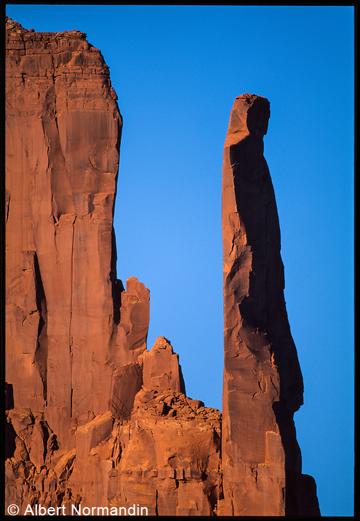 Monument Valley Spire, Arizona, USA, December 1998