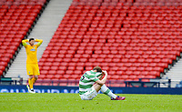 19/04/15 WILLIAM HILL SCOTTISH CUP SEMI-FINAL<br /> INVERNESS CT v CELTIC<br /> HAMPDEN - GLASGOW<br /> Dejection for Celtic's Stefan Johansen at full-time