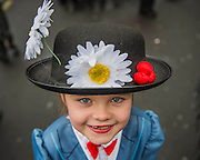 Lily Stout aged 7 - The London Borough of Havering enters a Mary Poppins themed group - The New Years day parade passes through central London form Piccadilly to Whitehall. London 01 Jan 2017