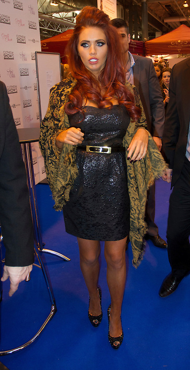© Licensed to London News Pictures. 10/12/2012. Birmingham, UK. Amy Childs at Clothes Show Live. Clothes Show Live is the UK's largest fashion and beauty event taking place at the NEC between the 7th to 11th December. Photo credit : Ashley Hugo/LNP
