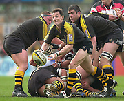 Wycombe. GREAT BRITAIN, 13th April 2003 Rugby Parker Pen European  Cup,  Causeway Stadium/ Adams Park, ENGLAND. Photo, Peter Spurrier/Intersport-images]<br /> <br /> 2003 -Rugby Parker Pen European  Cup <br /> London Wasps v Pontypridd<br /> Robert Howley