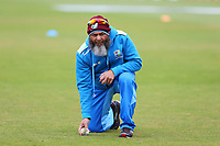 Cricket - 2019 ICC Cricket World Cup - Group Stage: South Africa vs. West Indies<br /> <br /> West Indies spin bowling coach Mushtaq Ahmed during the pre match warm up at the Hampshire Bowl, Southampton.<br /> <br /> COLORSPORT/SHAUN BOGGUST
