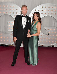 GARY KEMP and his wife LAUREN BARBER at the GQ Men Of The Year 2014 Awards in association with Hugo Boss held at The Royal Opera House, London on 2nd September 2014.