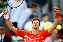 May 12, 2019 - Madrid, MADRID, SPAIN - Novak Djokovic (SRB) during the Mutua Madrid Open 2019, Final round, (ATP Masters 1000 and WTA Premier) tenis tournament at Caja Magica in Madrid, Spain, on May 12, 2019. (Credit Image: © AFP7 via ZUMA Wire)