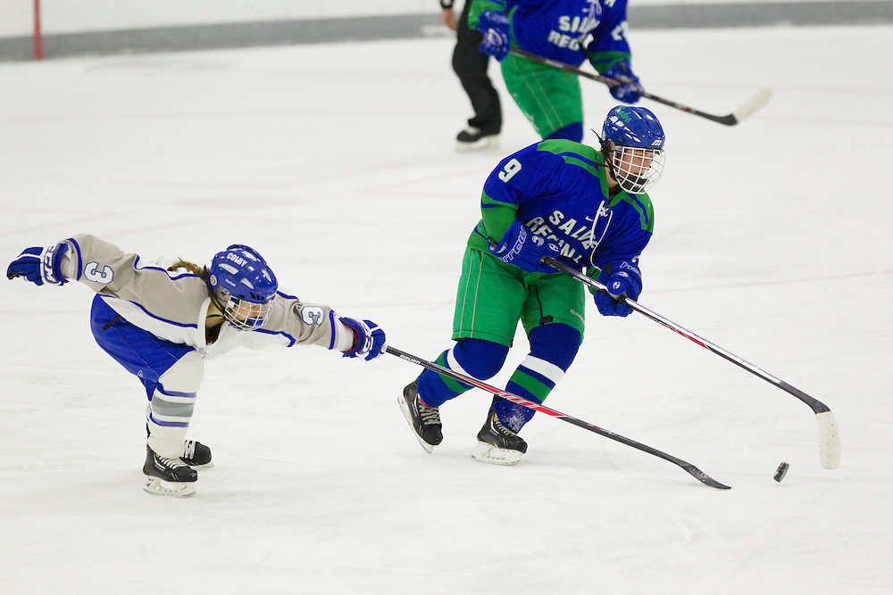 Samantha Slotnick, of Colby College, in a NCAA Division III hockey game against Salve Regina University on December 6, 2013 in Waterville, ME. (Dustin Satloff/Colby College Athletics)