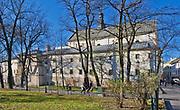 Klasztor dominikanek na Gródku od strony Plant w Krakowie, Polska<br /> Dominican Monastery in Gródek from the Plant site in Cracow, Poland