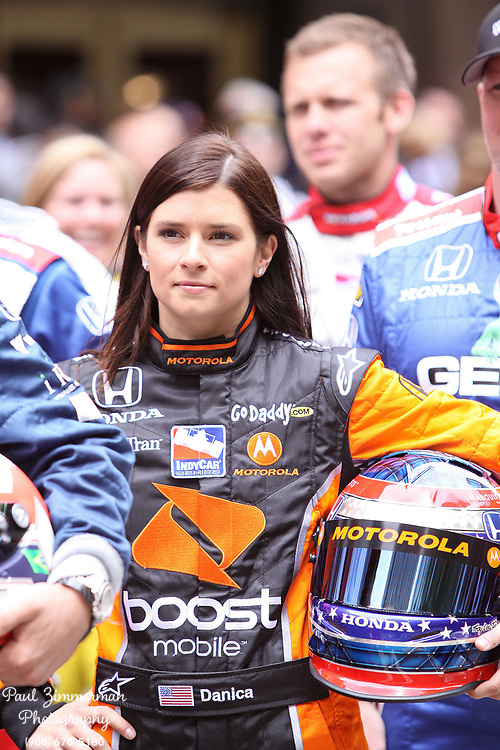 18 May 2009- New York, NY - Indianapolis 500 Gives regards to Broadway 33 Race Drivers to stage starting lineup in iconic Herald Square.<br /> Photo Credit:Paul Zimmerman/AdMedia