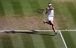 Angelique Kerber in action on day twelve of the Wimbledon Championships at the All England Lawn Tennis and Croquet Club, Wimbledon.
