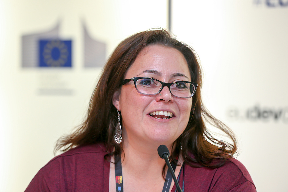 04 June 2015 - Belgium - Brussels - European Development Days - EDD - Inclusion - Democracy support under pressure - Challenges for EU democracy support in the Middle East and North Africa region - Sally Sami , Executive Director , Egyptian Observatory for Training and Consultation , Egypt © European Union