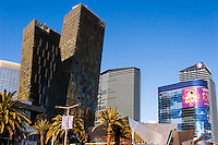 United States, Nevada,  Las Vegas Strip. Tall buildings.