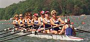Atlanta, USA,  GBR W8+, 1996, Olympic Rowing Regatta, Lake Lanier, Gainesville Georgia,  [Photo Peter Spurrier/Intersport Images]<br /> GBR W8+. Annamarie STAPLETON, Lisa EYRE, Dot BLACKIE, Katherine POLLITT, Miriam BATTEN, Cath BISHOP, Joanne TURVEY, Alison GILL and cox  Suzie ELLIS,