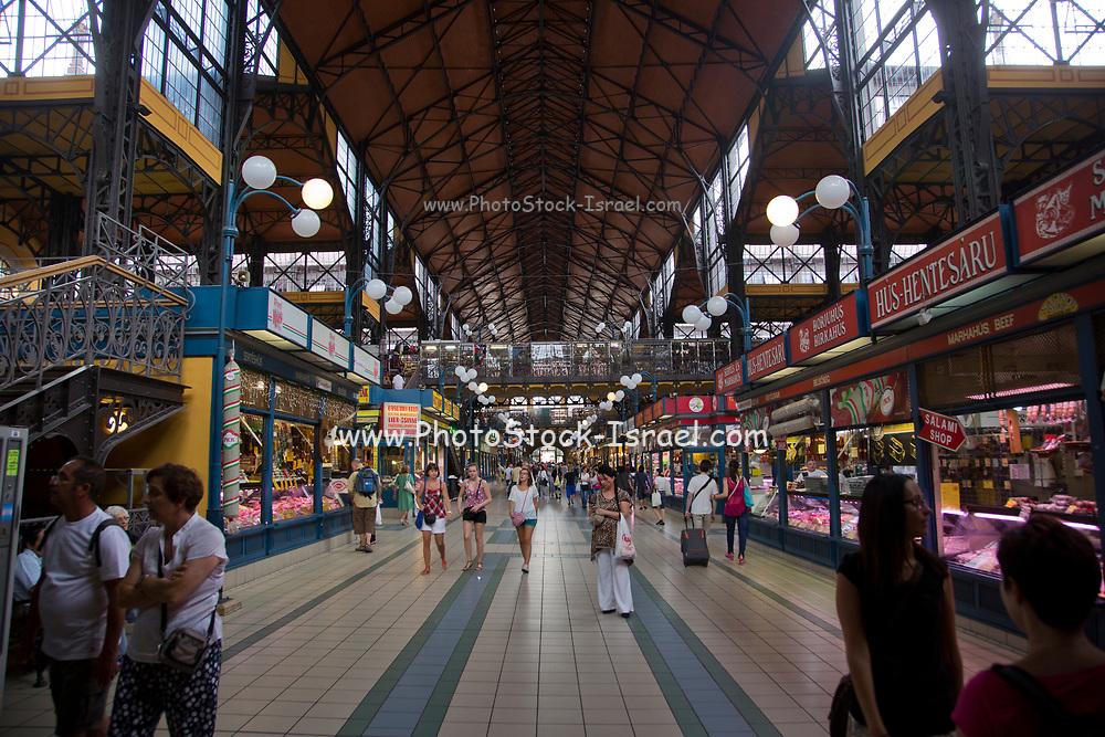 Nagycsarnok the great central market in Budapest, Hungary