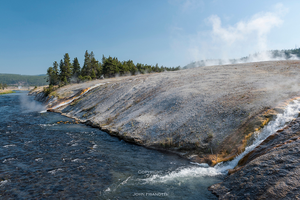 The Firehole River, next to Gran Prismatic Spring, Yellowstone National Park